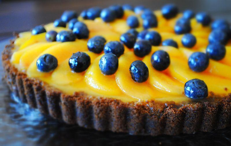 Peach and Blueberry Cheesecake Tart